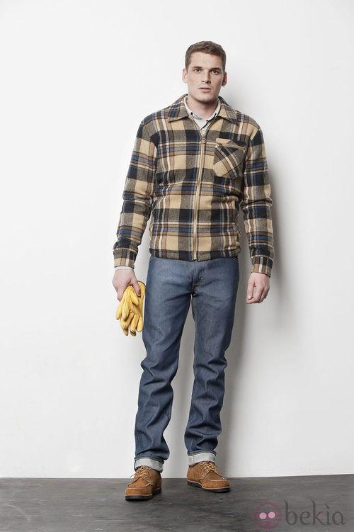 Chaqueta de cuadros de la colección masculina otoño/invierno 2012/2013 de Lee