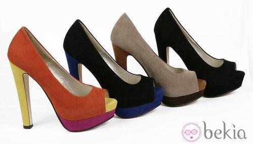 Peep toes en diferentes colores de la colección otoño/invierno 2012/2013 de Alex Silva
