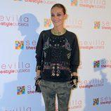 Laura Ponte con pantalones de camuflaje