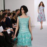 Vestido turquesa de la colección pre-fall 2013 de Oscar de la Renta
