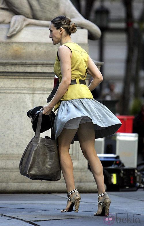 El viento levanta la falda a Sarah Jessica Parker