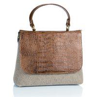 Bolso de asa corta de piel de cocodrilo de Castañer para la colección otoño-invierno 2012