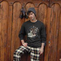 Pijama de hombre de cuadros de Jockey para la colección de invierno 2013