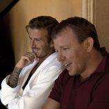 Guy Ritchie y David Beckham durante la grabación del spot de la colección Bodywear at H&M