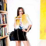 Chaleco blanco y amarillo de la colección otoño/invierno 2012/2013 de Dolores Promesas
