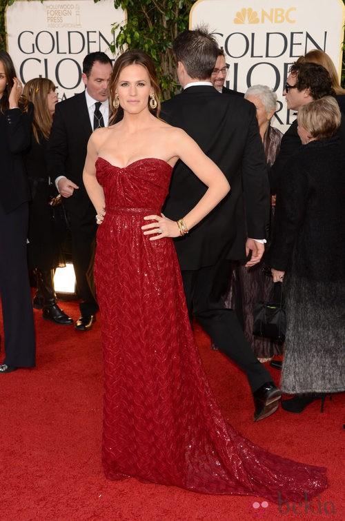 Jennifer Garner con un vestido de Vivienne Westwood en los Globos de Oro 2013