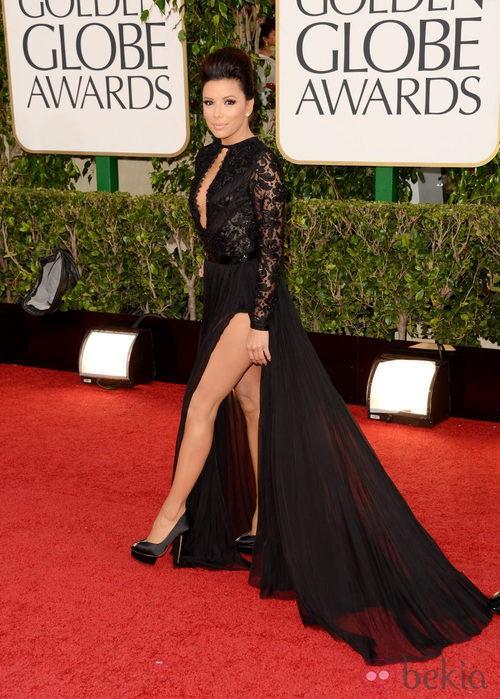 Eva Longoria con un vestido de Emilio Pucci en los Globos de Oro 2013