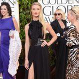 Rosie Huntington-Whiteley con un vestido Saint Laurent en los Globos de Oro 2013