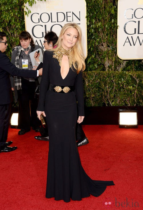 Kate Hudson con un vestido de Alexander McQueen en los Globos de Oro 2013