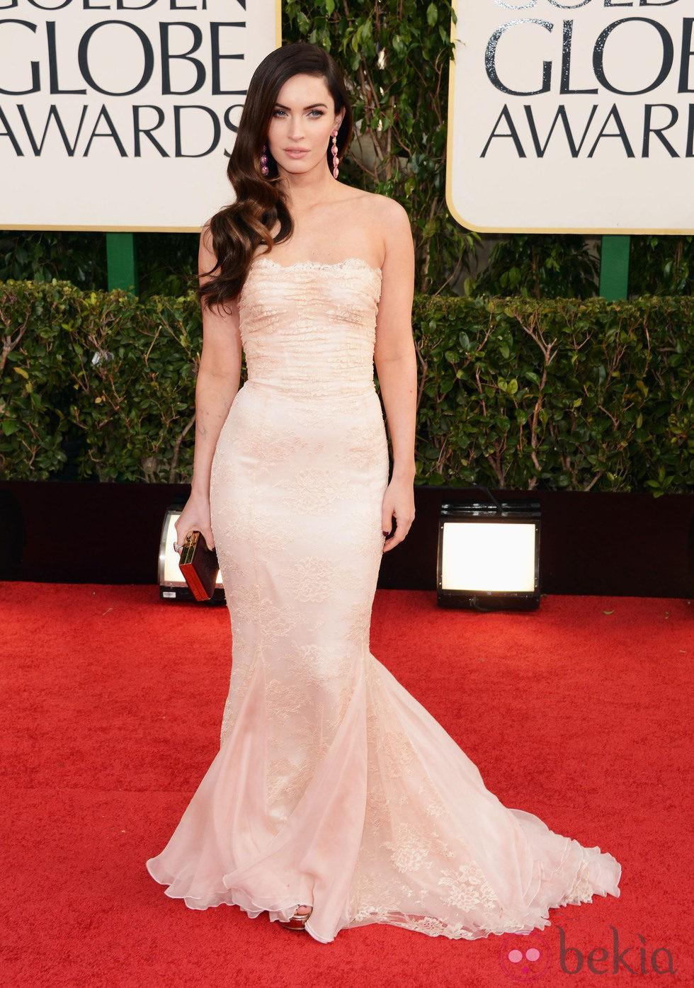 Megan Fox con un vestido de Dolce & Gabbana en los Globos de Oro 2013