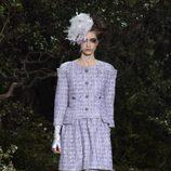 Vestido en azul de la colección primavera/verano 2013 de Chanel en la Semana de la Alta Costura de París