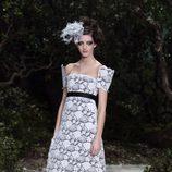 Vestido de encaje de la colección primavera/verano 2013 de Chanel en la Semana de la Alta Costura de París