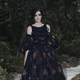 Vestido con estampado floral de la colección primavera/verano 2013 de Chanel en la Semana de la Alta Costura de París