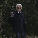 Karl Lagerfeld presenta la colección primavera/verano 2013 de Chanel en la Semana de la Alta Costura de París