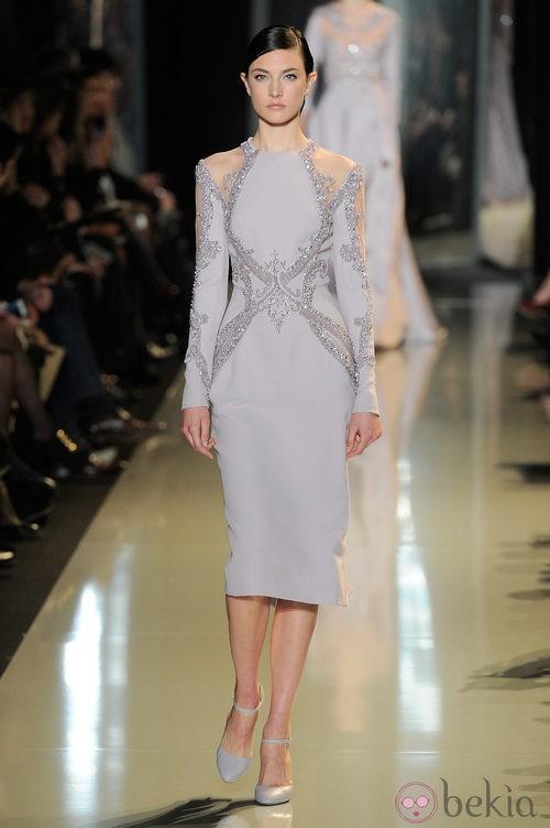 Vestido lila de la colección primavera/verano 2013 de Elie Saab de la Semana de la Alta Costura de París