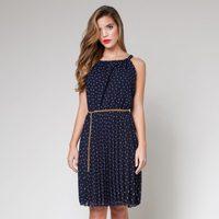 Vestido azul marino de lunares de la colección primavera/verano 2013 de Poète