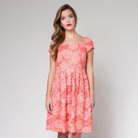 Vestido coral de la colección primavera/verano 2013 de Poète