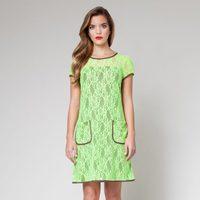 Vestido color lima de encaje de la colección primavera/verano 2013 de Poète