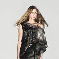 Camisa de estampados negros de la colección primavera/verano 2013 de Sisley