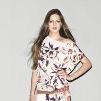 Vestido de flores de la colección primavera/verano 2013 de Sisley