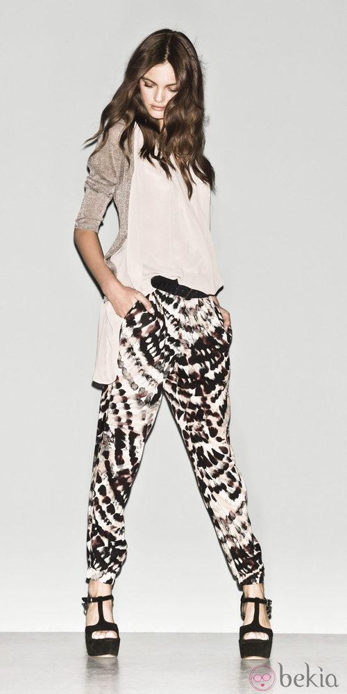 Pantalón animal print de la colección primavera/verano 2013 de Sisley