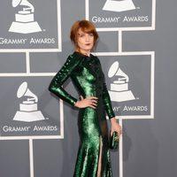 Florence Welch con un vestido de Givenchy en los Grammy 2013