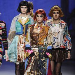Looks multicolor en la colección otoño/invierno 2013/2014 de Francis Montesinos en la Madrid Fashion Week