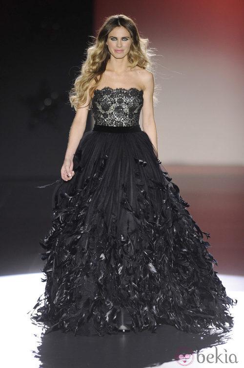 Vanesa Romero desfila para Hannibal Laguna en la Madrid Fashion Week otoño/invierno 2013/2014
