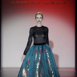Transparencias y faldas con vuelo para la colección otoño/invierno 2013/2014 de Hannibal Laguna en la Madrid Fashion Week