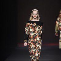 Mono con estampado floral de la colección otoño/invierno 2013/2014 de Ana Locking en Madrid Fashion Week