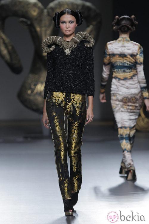 Look de la colección otoño/invierno 2013/2014 de Maya Hansen en Madrid Fashion Week