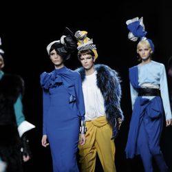 Carrusel final de la colección otoño/invierno 2013/2014 de María Barros en Madrid Fashion Week