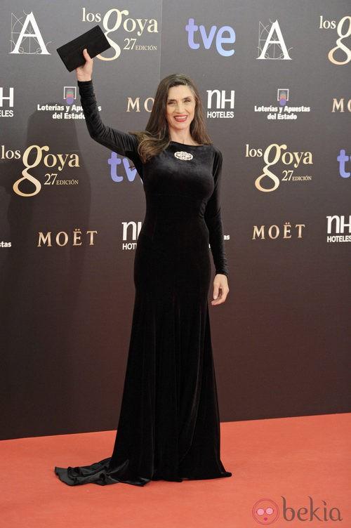 Ángela Molina con joyas de Carrera y Carrera en los Goya 2013