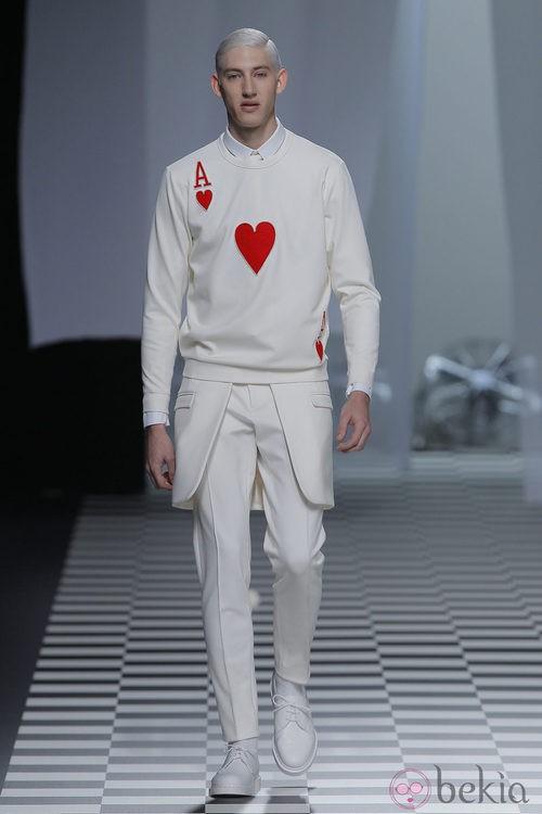Carta de Corazones de la colección otoño/invierno 2013/2014 de David Delfín en Madrid Fashion Week