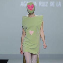 Vestido verde pastel de la colección otoño/invierno 2013/2014 de Ágatha Ruiz de la Prada en Madrid Fashion Week