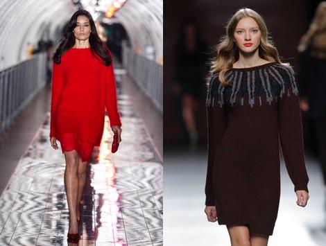 Vestido de lana de la colección otoño/invierno 2013/2014 de Sita Murt en Madrid Fashion Week