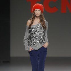 Pantalones vaqueros de la colección otoño/invierno 2013/2014 de TCN en Madrid Fashion Week