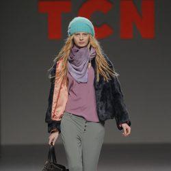 Abrigo de piel de la colección otoño/invierno 2013/2014 de TCN en Madrid Fashion Week