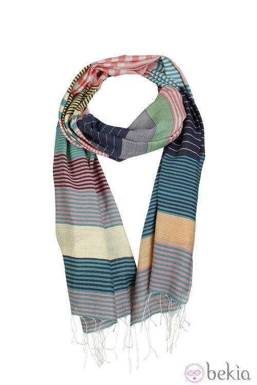 Fular de rayas de Indi & Cold de la colección primavera/verano 2013