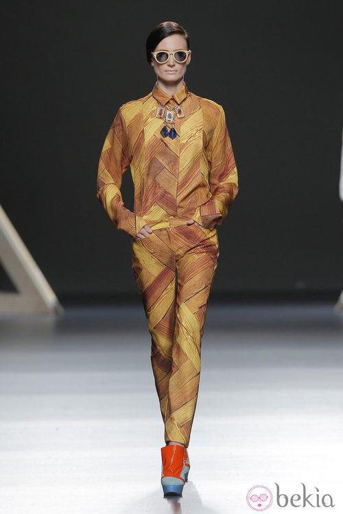 Colores tierra en la colección otoño/invierno 2013/2014 Moisés Nieto en Madrid Fashion Week