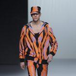 Rayas multicolores en la colección otoño/invierno 2013/2014 de María Escoté en Madrid Fashion Week