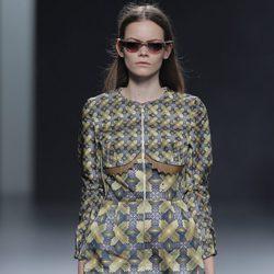 Vestido de estampados geométricos de la colección otoño/invierno 2013/2014 de Martín Lamothe en Madrid Fashion Week