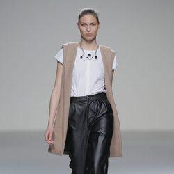 Pantalones de cuero de la colección otoño/invierno 2013/2014 de POL en Madrid Fashion Week