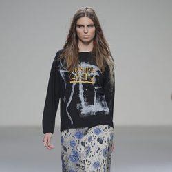 Falda de flores de la colección otoño/invierno 2013/2014 de Heridadegato en El Ego de Madrid Fashion Week