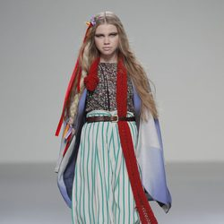 Pantalón de rayas verdes de la colección otoño/invierno 2013/2014 de Heridadegato en El Ego de Madrid Fashion Week