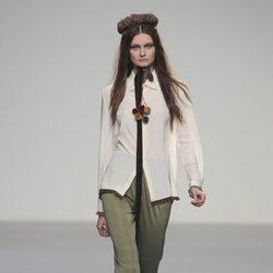 Pantalón tobillero verde de la colección otoño/invierno 2013/2014 de HOWL by Maria Glück en El Ego de Madrid Fashion Week