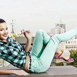 Malena Costa posando como imagen de la colección primavera/verano 2013 de Refresh
