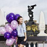 Malena Costa con unas cuñas de la colección primavera/verano 2013 de Refresh