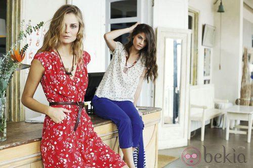 Alba Galocha y Dimphy Jansen con looks de la colección primavera/verano 2013 de Indi & Cold