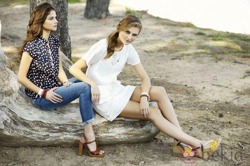 Alba Galocha y Dimphy Jansen con la colección primavera/verano 2013 de Indi & Cold